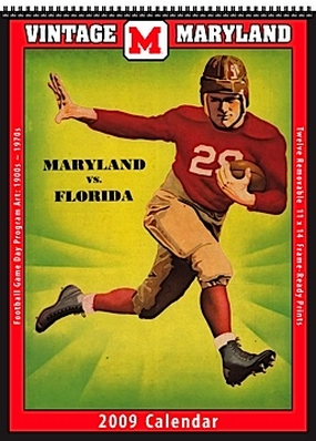 Maryland Terrapins 2009 Vintage Football Program Calendar