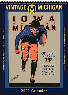 Michigan Wolverines 2009 Vintage Football Program Calendar