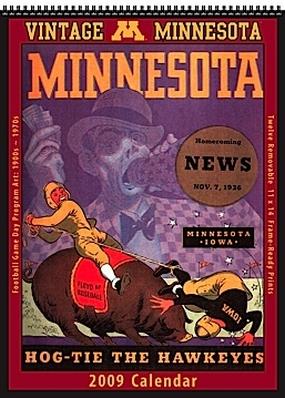 Minnesota Golden Gophers 2009 Vintage Football Program Calendar