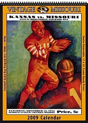 Missouri Tigers 2009 Vintage Football Program Calendar
