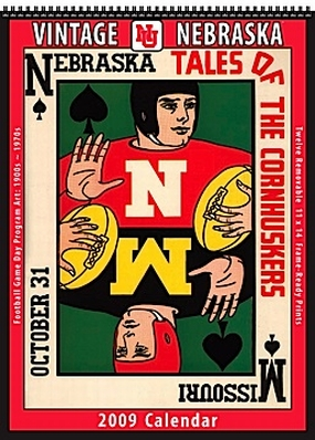 Nebraska Cornhuskers 2009 Vintage Football Program Calendar