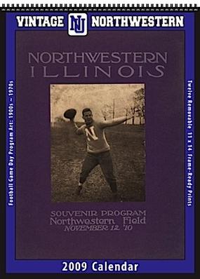 Northwestern Wildcats 2009 Vintage Football Program Calendar