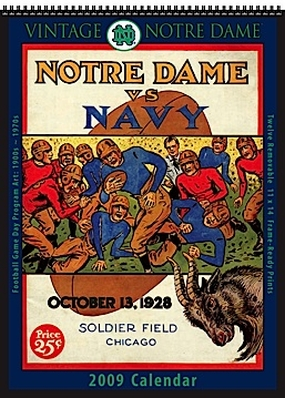 Notre Dame Fighting Irish 2009 Vintage Football Program Calendar