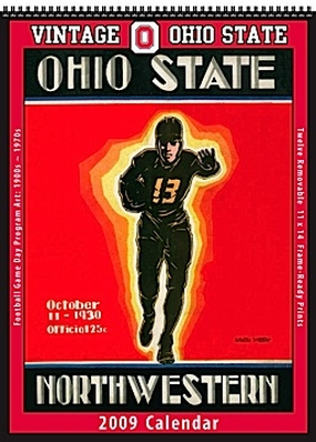 Ohio State Buckeyes 2009 Vintage Football Program Calendar