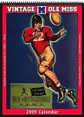 Mississippi Rebels 2009 Vintage Football Program Calendar