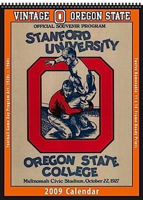Oregon State Beavers 2009 Vintage Football Program Calendar