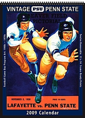 Penn State Nittany Lions 2009 Vintage Football Program Calendar