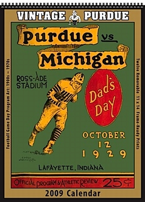 Purdue Boilermakers 2009 Vintage Football Program Calendar