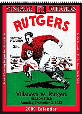 Rutgers Scarlet Knights 2009 Vintage Football Program Calendar