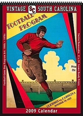 South Carolina Gamecocks 2009 Vintage Football Program Calendar