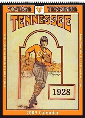 Tennessee Volunteers 2009 Vintage Football Program Calendar
