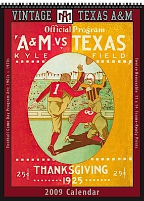 Texas A&M Aggies 2009 Vintage Football Program Calendar