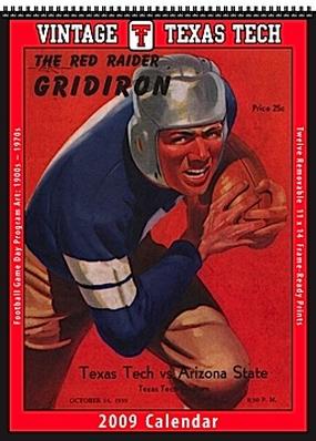 Texas Tech Red Raiders 2009 Vintage Football Program Calendar
