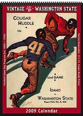 Washington State Cougars 2009 Vintage Football Program Calendar
