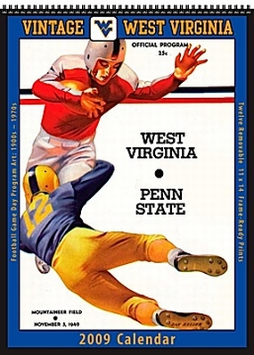 West Virginia Mountaineers 2009 Vintage Football Program Calendar
