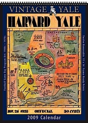 Yale Bulldogs 2009 Vintage Football Program Calendar