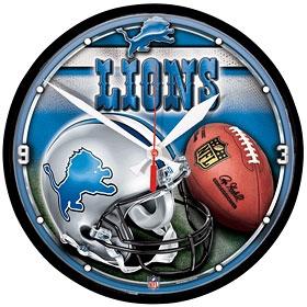 Detroit Lions Round Clock