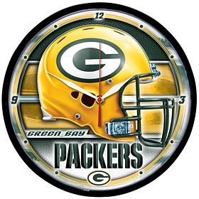 Green Bay Packers Round Clock