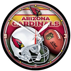 Arizona Cardinals Round Clock