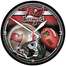 Tampa Bay Buccaneers Round Clock