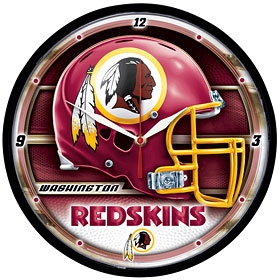 Washington Redskins Round Clock
