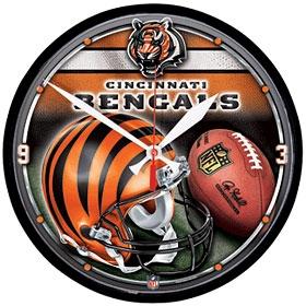 Cincinnati Bengals Round Clock