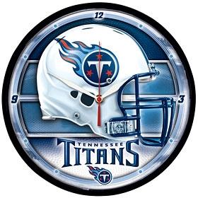 Tennessee Titans Round Clock