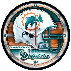 Miami Dolphins Round Clock
