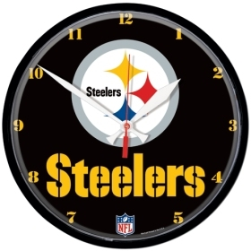 Pittsburgh Steelers Round Clock