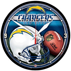 San Diego Chargers Round Clock