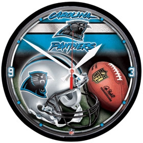 Carolina Panthers Round Clock