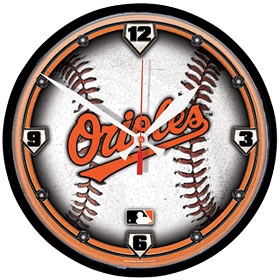 Baltimore Orioles Round Clock
