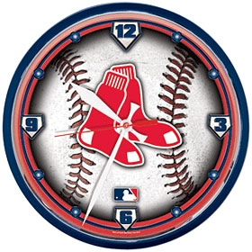 Boston Red Sox Round Clock