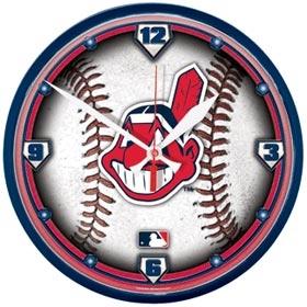 Cleveland Indians Round Clock