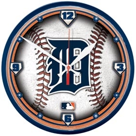 Detroit Tigers Round Clock