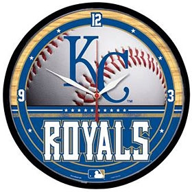 Kansas City Royals Round Clock