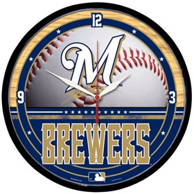Milwaukee Brewers Round Clock