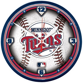 Minnesota Twins Round Clock