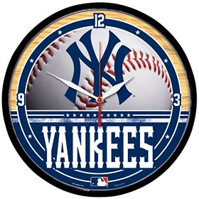 New York Yankees Round Clock