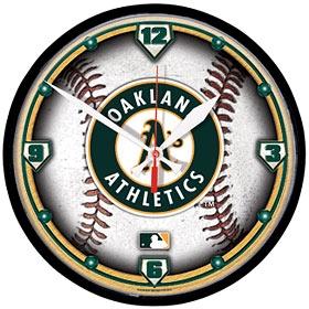 Oakland A's Round Clock