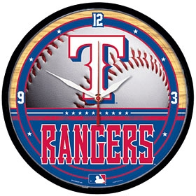 Texas Rangers Round Clock