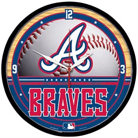 Atlanta Braves Round Clock