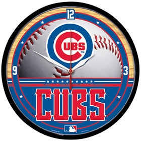 Chicago Cubs Round Clock