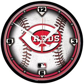 Cincinnati Reds Round Clock