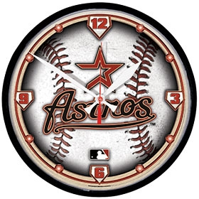 Houston Astros Round Clock
