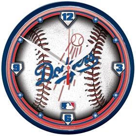 Los Angeles Dodgers Round Clock
