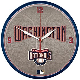 Washington Nationals Round Clock
