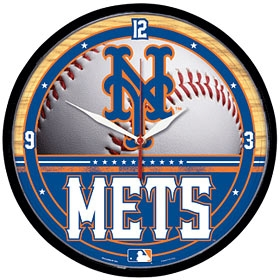New York Mets Round Clock