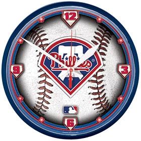 Philadelphia Phillies Round Clock