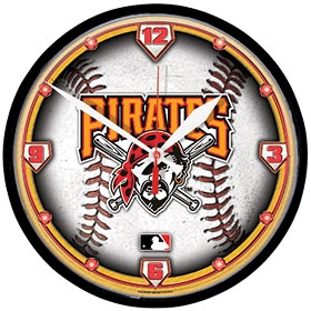 Pittsburgh Pirates Round Clock